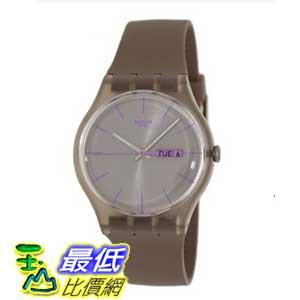 [美國直購 ShopUSA] Swatch 手錶 Originals Taupe Rebel Brown Dial Silicone Mens Watch SUOC702 $2214