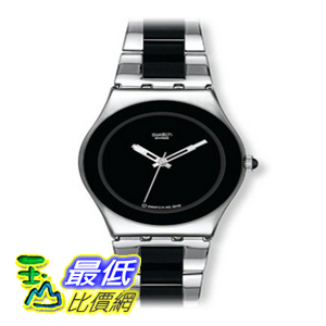 [美國直購 ShopUSA] Swatch 手錶 Women's YLS168G Irony Black Dial Two Tone Stainless Steel Watch $28105