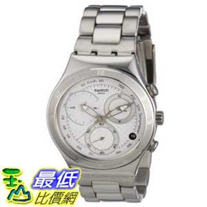 [美國直購 ShopUSA] Swatch 手錶 Men's YCS550G Silver Stainless-Steel Quartz Watch with White Dial $5406