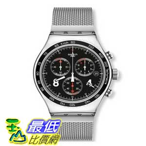 [美國直購 ShopUSA] Swatch 手錶 Men's Irony YCS564G Silver Stainless-Steel Swiss Quartz Watch with Black Dial $6625