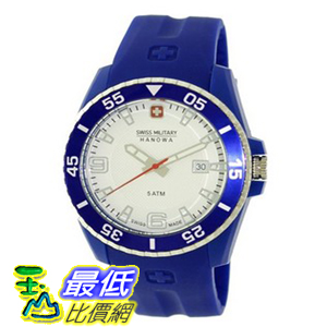 [美國直購 ShopUSA] Swiss Military Hanowa Men's Ranger 06-4200-23-001-03 Blue Plastic Quartz 手錶 with White Dial $4315