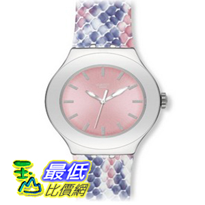 [美國直購 ShopUSA] Swatch 手錶 Women's Irony YNS117 Pink Leather Quartz Watch with Pink Dial $5197