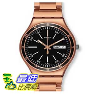 [美國直購 ShopUSA] Swatch 手錶 Men's Irony YGG704G Rose-Gold Stainless-Steel Swiss Quartz Watch with Black Dial $5520