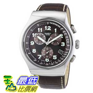 [美國直購 ShopUSA] Swatch 手錶 Men's YOS413 Quartz Stainless Steel Leather Bands Chronograph Luminous Watch $7549