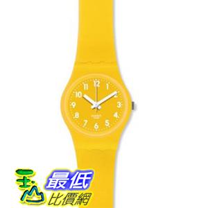 [美國直購 ShopUSA] Swatch 手錶 Lady Papaya Yellow Silicone Ladies Watch LJ107 $1984