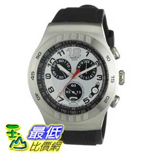 [美國直購 ShopUSA] Swatch 手錶 Men's YOS433 Irony Chrono Silver and Black Dial Watch $5088