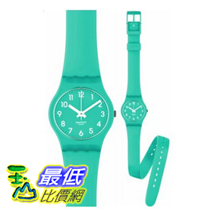 [美國直購 ShopUSA] Swatch 手錶 Women's Originals LL115 Green Rubber Quartz Watch with Green Dial $2163