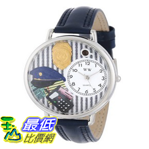 [美國直購 ShopUSA] Whimsical 手錶 Watches Unisex U0610016 Police Officer Navy Blue Leather Watch $1898