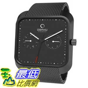 [美國直購 ShopUSA] Obaku 手錶 Men's V145UBBMB Black Stainless-Steel Quartz Watch with Black Dial $3295