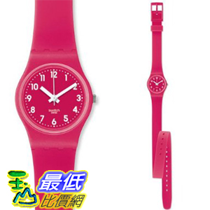 [美國直購 ShopUSA] Swatch 手錶 Women's Originals LR123 Pink Rubber Swiss Quartz Watch with Pink Dial $2089
