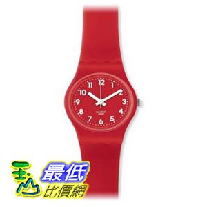 [美國直購 ShopUSA] Swatch 手錶 Bitter Cranberry Red Silicone Ladies Watch LR124 $2089