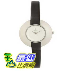 [美國直購 ShopUSA] Obaku 手錶 Women's V135LCIRB Round Silver Dial Black Leather Watch $2306