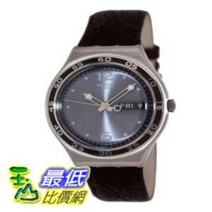 [美國直購 ShopUSA] Swatch 手錶 Men's Ethnic YGS762 Brown Leather Swiss Quartz Watch with Grey Dial $5067