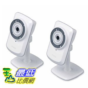 [104美國直購] 2-Pack D-Link Day/Night Cloud Network Camera w/ Remote Viewing DCS-932L