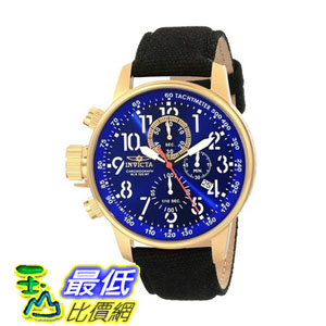 [104美國直購] 手錶  Invicta Men's 1516 I Force Collection 18k Gold Ion-Plated Stainless Steel and Cloth Watch