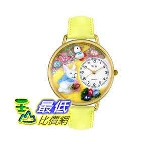 [美國直購 ShopUSA] 手錶 Whimsical Watches Women's G1220015 Cross Stitch Yellow Leather Watch $1585