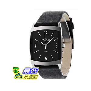 [美國直購 ShopUSA] Skagen 手錶 Black Dial Stainless Steel Black Leather Mens Watch 691LSLB bfy $2709
