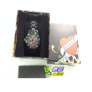 [103美國直購] ED HARDY VIP II BLACK VP2-BK SKULL LOVE KILLS 手錶 SLOWLY TATTOO CERAMIC WATCH $2631