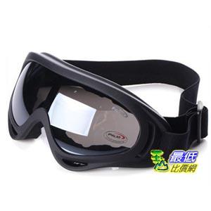 _a@[103玉山最低比價網] 生存遊戲 滑雪 防風鏡 防沙鏡 越野 護目鏡 眼鏡 風鏡 黑框 灰黑 (791074_J011)  $129