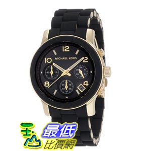 [103 美國直購] Michael Kors 女士手錶 Quartz, Black Dial with Black Goldtone Bracelet - Womens Watch MK5191 $7436