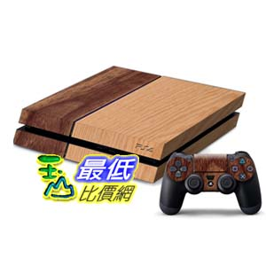 [103 玉山網] PS4貼紙 木紋纖維貼 機身保護膜主機碳膜 全身貼(_p48)