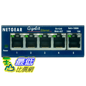 [美國直購 ShopUSA] NETGEAR 桌面交換機 GS105 ProSafe 5-Port Gigabit Ethernet Desktop Switch - 10/100/1000 Mbps $2290