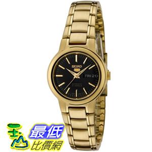 [美國直購 USAShop] Seiko 手錶 Women's 5 Automatic SYME48K Gold Gold Tone Stainles-Steel Automatic Watch with Black Dial $4568