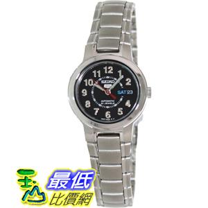 [美國直購 USAShop] Seiko 手錶 Women's 5 Automatic SYME51K Silver Stainless-Steel Automatic Watch with Black Dial $3597