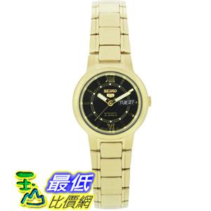 [美國直購 USAShop] Seiko 手錶 Women's 5 Automatic SYME78K Gold Gold Tone Quartz Watch with Black Dial $4140