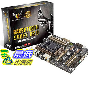 [美國直購 ShopUSA] ASUS 主機板 SABERTOOTH 990FX R2.0 AM3+ AMD 990FX SATA 6Gb/s USB 3.0 ATX AMD Motherboard $8320