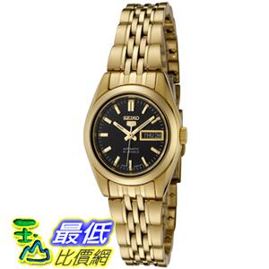 [美國直購 USAShop] Seiko 手錶 Women's 5 Automatic SYMA40K Gold Gold Tone Stainles-Steel Automatic Watch with Black Dial $4900