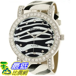 [美國直購 USAShop] Geneva 手錶 Platinum Women's Watch 2183.SIlver.Zebra _mr $999