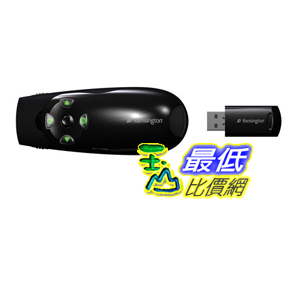 [美國直購 ShopUSA] Kensington 綠色激光筆 K72426AM  Presenter Expert with Cursor Control, Backlit Joystick and Green Laser Pointer B009K1PYG0 $2425