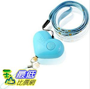[顏色隨機] 婦幼安全 SOS守護之心 LED燈防狼隨身警報器/手機吊飾 (_Y71)