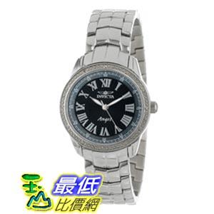 [美國直購 ShopUSA] Invicta 手錶 Angel Black Dial Stainless Steel Diamond Ladies Watch 0611