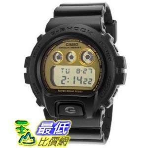[美國直購 ShopUSA] Casio G-Shock Multi-Function Digital Gold Dial Black Resin 男士手錶 DW6900PL-1CR bfy
