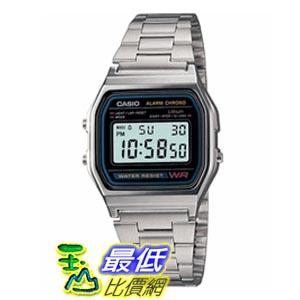 [美國直購 ShopUSA]  Casio Digital Stainless Steel Bracelet 男士手錶 A158 bfy