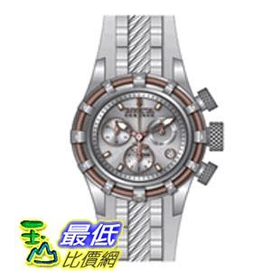 [美國直購 ShopUSA] Invicta 手錶 Bolt Chronograph Silver-tone Dial Stainless Steel White Polyurethane Ladies Watch 14777