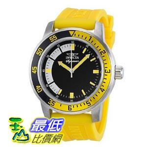 [美國直購 ShopUSA] Invicta Signature II Black Dial Yellow Rubber Strap Mens Watch 7463
