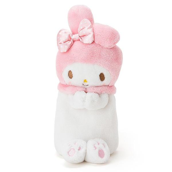 【真愛日本】16031100006可立座絨毛筆袋化妝包-MM   三麗鷗家族 Melody 美樂蒂   鉛筆盒 鉛筆袋 文具用品 收納