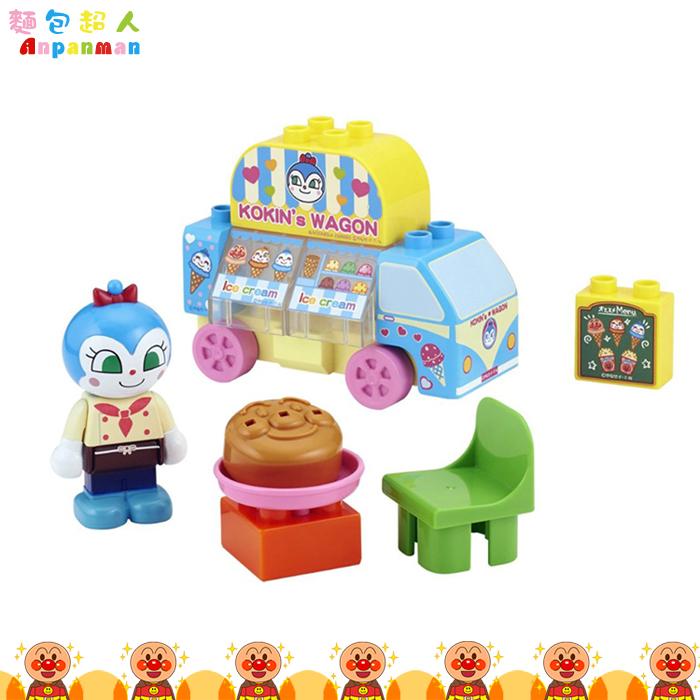 大田倉 日本進口正版麵包超人 ANPANMAN 可愛人偶積木組 人偶 公仔 兒童玩具 小病毒 002598