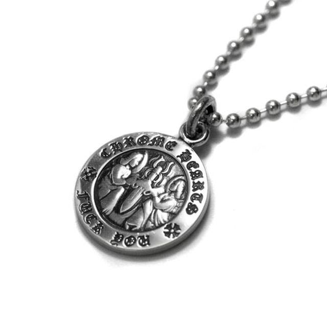 【海外訂購】【Chrome Hearts】Angel medal fuck you 圓牌純銀項鍊(CHC-032fu  0092680000)