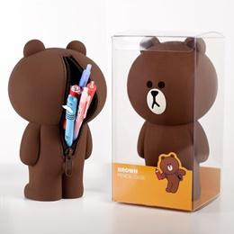 熊大造型收納包/鉛筆盒