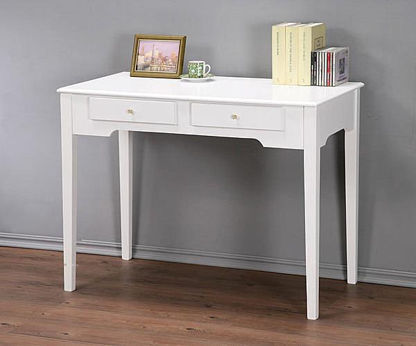 100cm防潑水二抽書桌 電腦桌 工作桌 兩色 簡單組裝【馥葉】【型號DE1050】