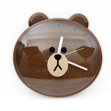 時鐘 超人氣LINE熊大大頭造型掃秒掛鐘 經典卡通可愛居家風 台灣製造 柒彩年代【NE1521】創意家飾