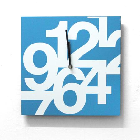 時鐘 清新感藍天白雲方型木質掛鐘壁鐘 藝術居家生活 柒彩年代 台灣製造【NE1536】創意家飾