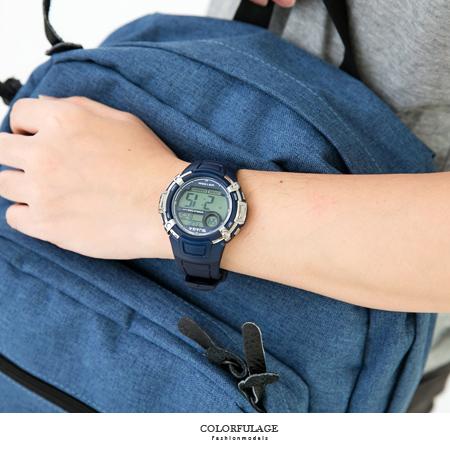 JAGA捷卡 基本多功能型男運動風電子錶 透氣錶帶設計 防水100米 柒彩年代【NE1587】單支