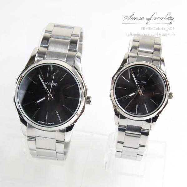 柒彩年代【NE170】超搶手八角錶殼設計手錶~日韓時尚大鏡面情侶腕錶.對錶~單支價格