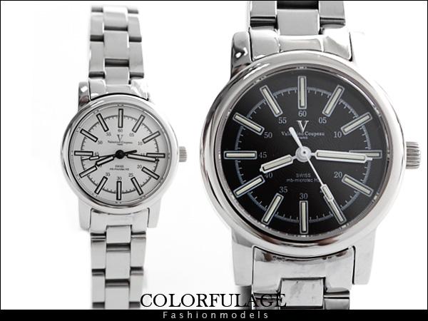柒彩年代【NE428】瑞士氚氣燈管 自體發光水鬼腕錶 范倫鐵諾Valentino藍寶石手錶~單隻