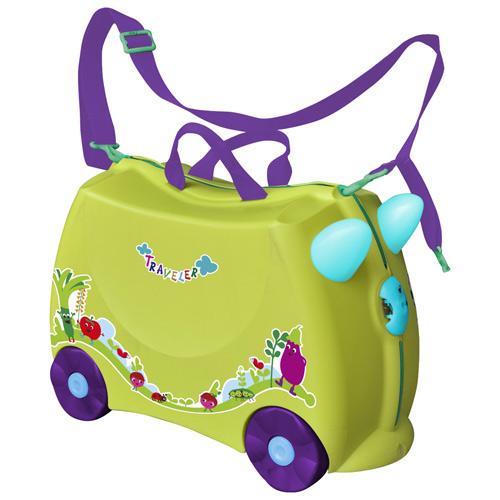 兒童可乘式遊戲車行李箱-黃綠(BJLV001Y)